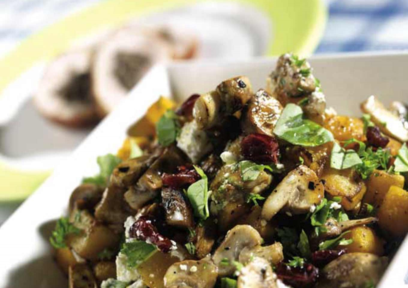 Al Brown's BBQ'd Mushroom & Roasted Pumpkin Salad