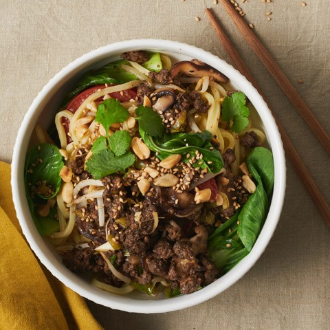 Blended Asian Street-Style Spicy Noodles